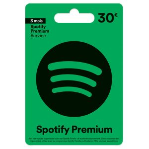 Carte d'abonnement Spotify 30€